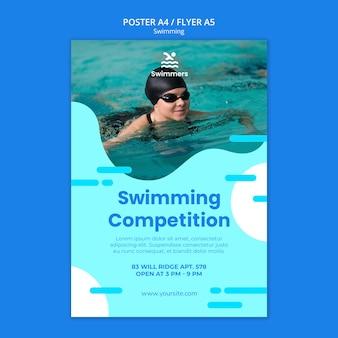 Szablon plakat pływanie