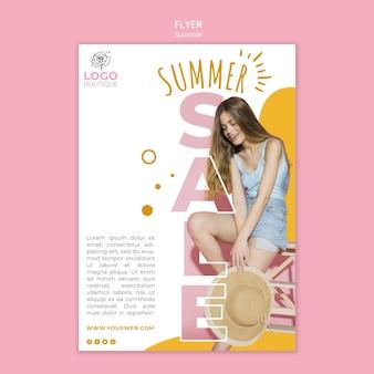 Szablon plakat sprzedaż lato