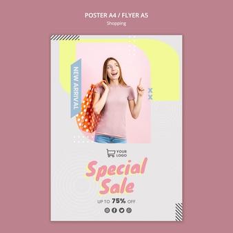 Szablon plakat sprzedaż sprzedaż