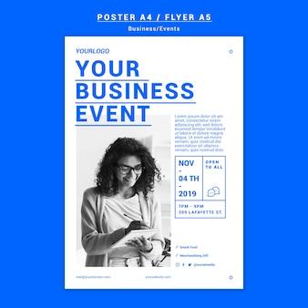 Szablon plakat wydarzenie biznesowe