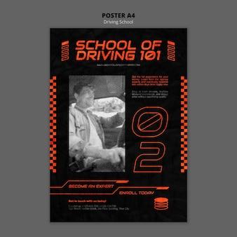 Szablon plakatu a4 koncepcji jazdy