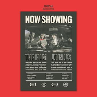 Szablon plakatu agencji aktorskiej