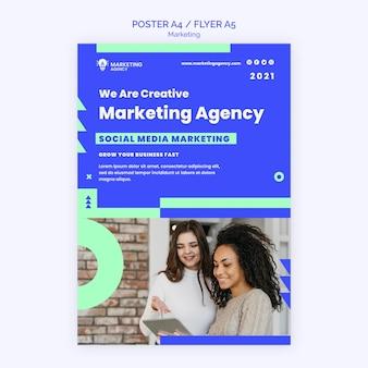 Szablon plakatu agencji marketingowej