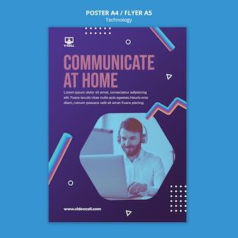 Szablon plakatu aplikacji komunikacyjnej