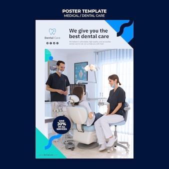 Szablon plakatu badania stomatologicznego