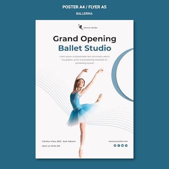 Szablon plakatu baleriny