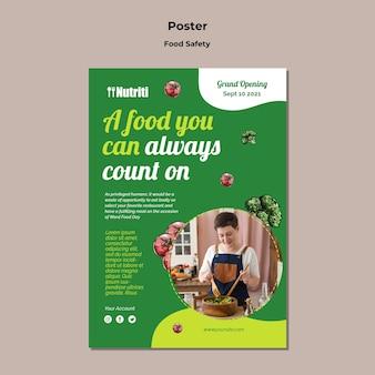 Szablon plakatu bezpieczeństwa żywności
