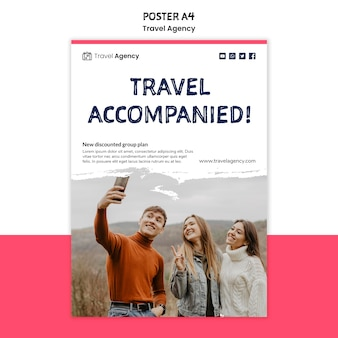 Szablon plakatu biura podróży