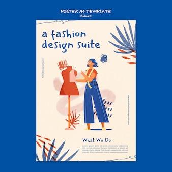 Szablon plakatu biznesowego mody
