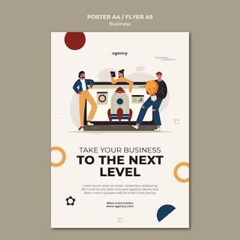 Szablon plakatu biznesowego następnego poziomu