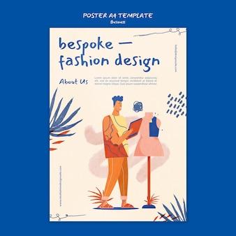 Szablon plakatu biznesowego projektowania mody