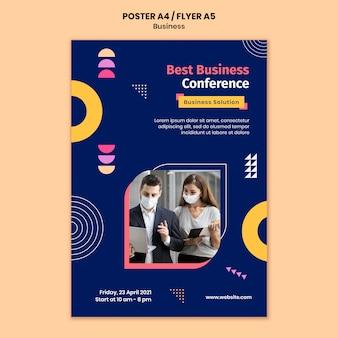 Szablon plakatu biznesowego w kolorowe kształty