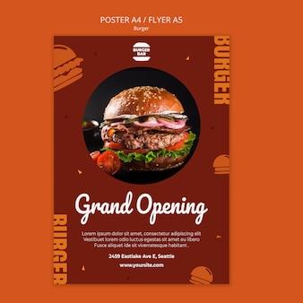 Szablon plakatu burger