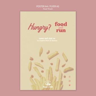 Szablon plakatu ciężarówki żywności