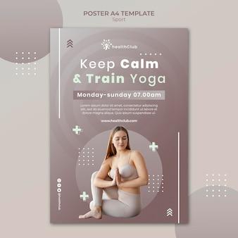 Szablon plakatu ćwiczeń jogi