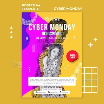 Szablon plakatu cyber poniedziałek