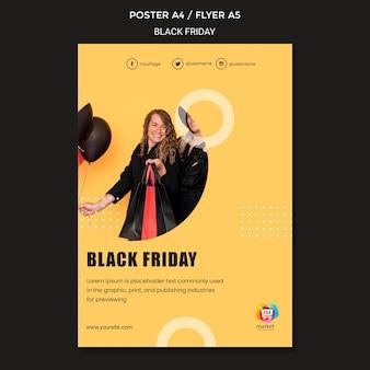 Szablon plakatu czarny piątek