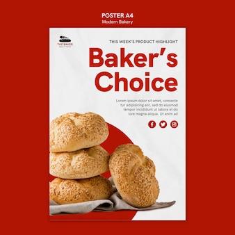 Szablon plakatu dla biznesu gotowania chleba