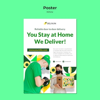 Szablon plakatu dla firmy kurierskiej