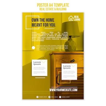 Szablon plakatu dla nieruchomości i budynków