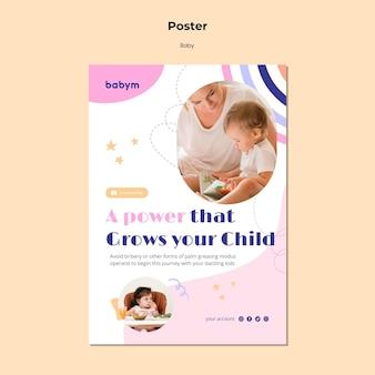 Szablon plakatu dla noworodka