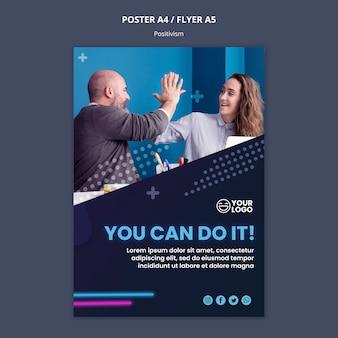 Szablon plakatu dla optymizmu i pozytywizmu