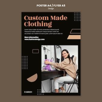 Szablon plakatu dla projektanta mody