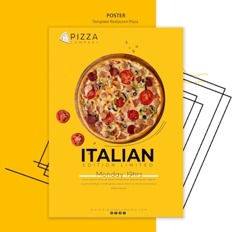 Szablon plakatu dla restauracji pizzy