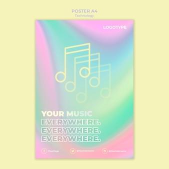 Szablon plakatu dla technologii elektronicznej