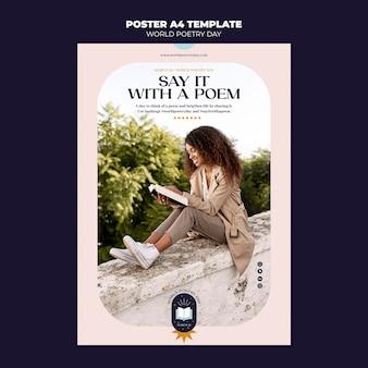 Szablon plakatu dnia poezji
