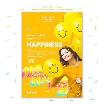 Szablon plakatu dnia szczęścia