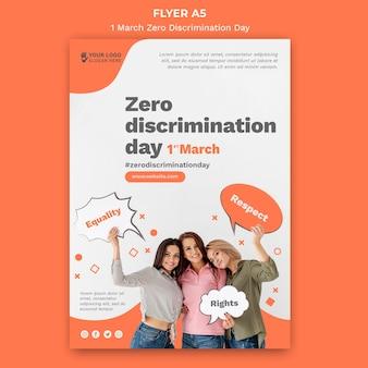 Szablon plakatu dnia zerowej dyskryminacji ze zdjęciem