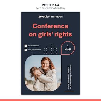 Szablon plakatu dnia zerowej dyskryminacji
