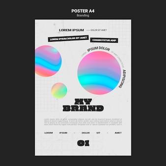 Szablon plakatu do brandingu firmy w kształcie kolorowych kółek