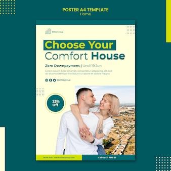Szablon plakatu do nowego domu rodzinnego