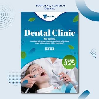 Szablon plakatu do opieki stomatologicznej