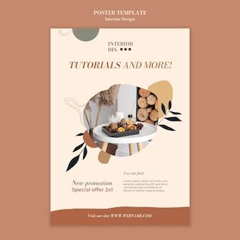 Szablon plakatu do projektowania wnętrz