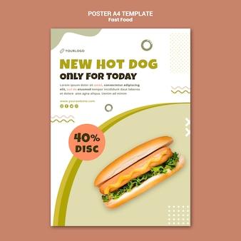 Szablon plakatu do restauracji z hot dogami