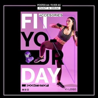 Szablon plakatu do treningu fitness