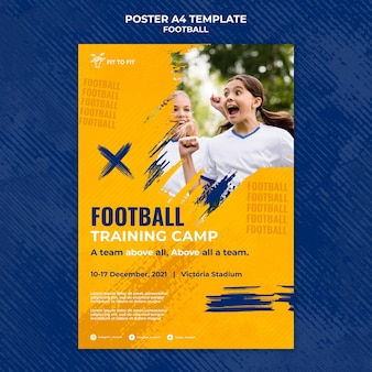 Szablon plakatu do treningu piłki nożnej dla dzieci