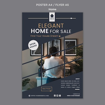 Szablon plakatu do znalezienia idealnego domu