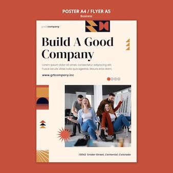 Szablon plakatu dobrej firmy