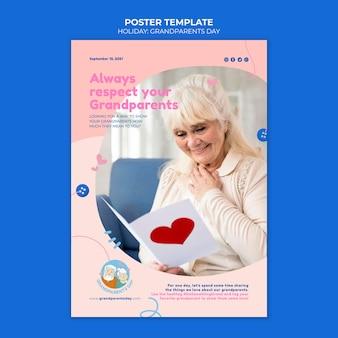 Szablon plakatu dzień babci i dziadka