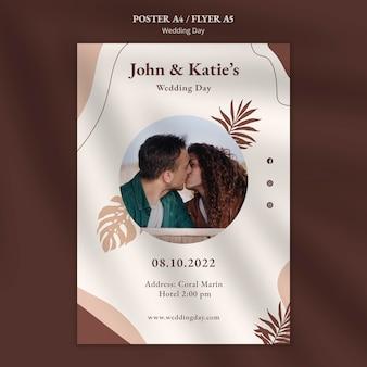 Szablon plakatu dzień ślubu