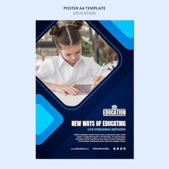 Szablon plakatu edukacji