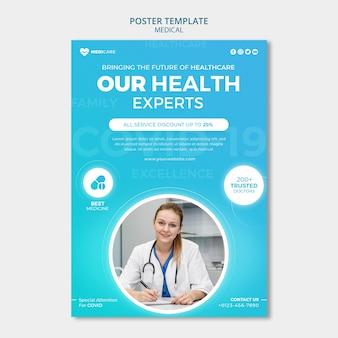 Szablon plakatu ekspertów ds. zdrowia