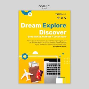 Szablon plakatu eksploracji marzeń