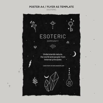 Szablon plakatu ezoterycznego rzemiosła