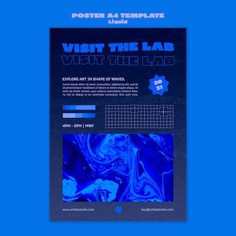 Szablon plakatu fali sztuki