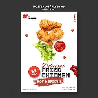 Szablon plakatu fast food